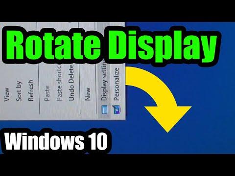How to correct Screen Orientation under Windows 10 (Landscape/Portrait)