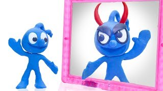 CLAY MIXER: DOUBLE TROUBLE IDENTICAL TWINS 💖 Play Doh Cartoons For Kids