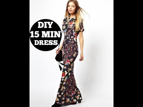 DIY Floral dress in 15 mins /DIY Clothes