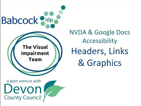 NVDA & Google Docs Accessibility- Headers, Graphics & Links