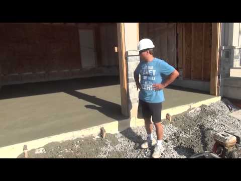 How To Build A House: Pouring The Garage Floor Ep 53