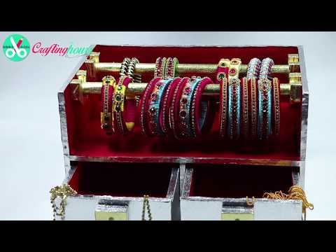 How to Make a Jewellery, Bangle Box at Home with Waste Cardboard | by CraftingHours