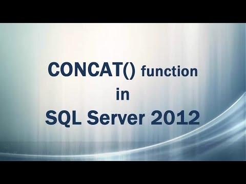 CONCAT() function in SQL Server 2012