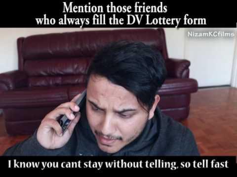 MENTION YOUR FRIENDS WHO ALWAYS FILL DV LOTTERY (NIZAM KC films)