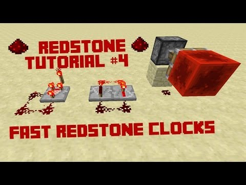 Minecraft Redstone Tutorial - Really Fast Redstone Clocks 1.7.2 w/ Covert_Assasin