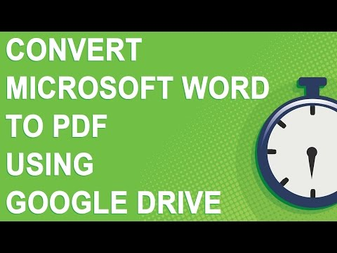 Convert Microsoft Word to PDF using Google Drive (NO YOUTUBE ADS)