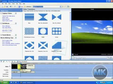 Windows XP Movie Maker - How to Split Video into Clips