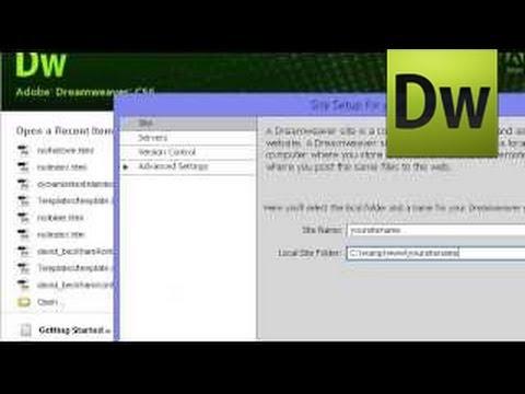 Adobe Dreamweaver / Creating Dynamic Website