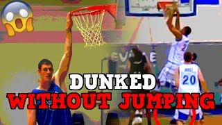 4 Basketball Players Who DUNKED WITHOUT JUMPING