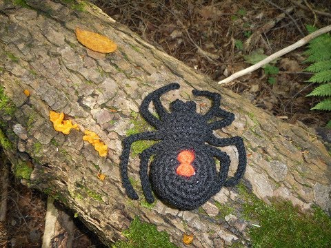 Amigurumi Crochet Black Widow Spider Tutorial