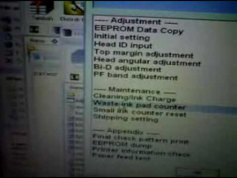 Printer Epson L100 Service Requared