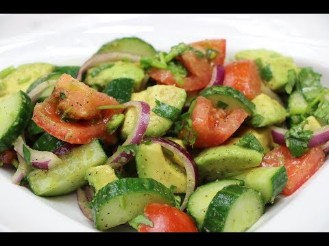 Cucumber Salad - How to Make Cucumber, Tomato and Avocado Salad