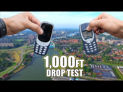 Nokia 3310 vs. New Nokia 3310 DROP TEST from 1000 FEET!! | Durability Review