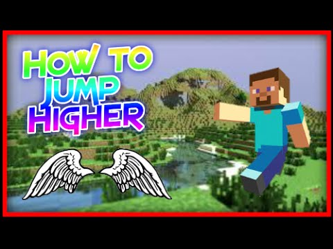 💯Minecraft - How to jump higher (double jump/ long jump) Cool minecraft trick