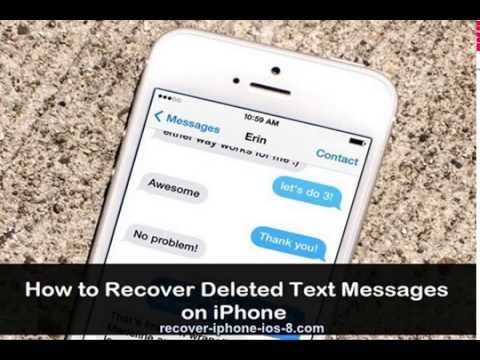 How to Recover  Lost Text messages from iPhone 7