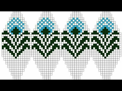 graph knitting pattern | beautiful graph for sweater border | cross stitch chart