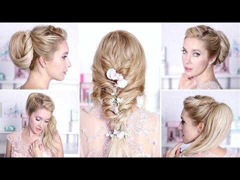 Romantic hairstyles for New Year's eve party, holidays ❤ Medium/long hair tutorial