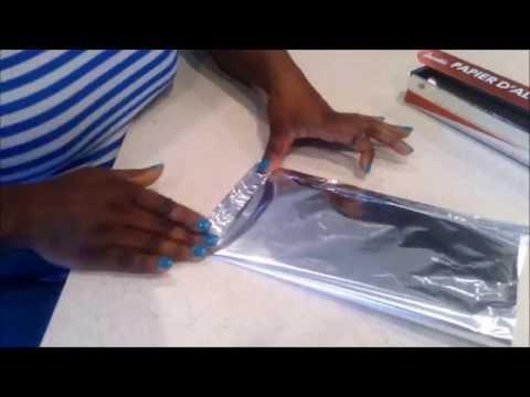 How To Make An Aluminum Foil Bag For Moi-Moi / DIY