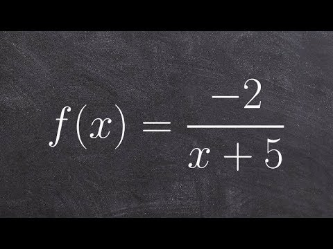 Pre-Calculus - Identify transformations, domain and limits of a reciprocal function, f(x) = -2/(x+5)