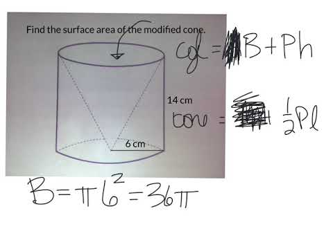 Modified cylinder missing a cone