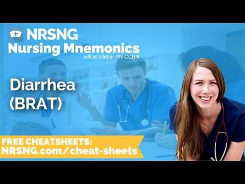 Diarrhea BRAT Nursing Mnemonics, Nursing School Study Tips