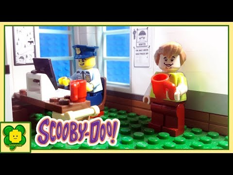 Lego Scooby Doo Brick Building Police Station #2 (Office) | Stop Motion Animation
