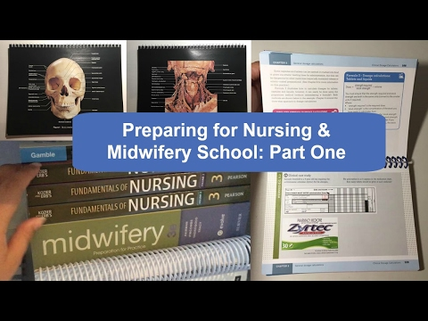 Preparing for Nursing & Midwifery School: Part 1, Classes & Textbooks 📚
