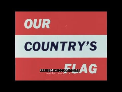 OUR COUNTRY'S FLAG  1953 PATRIOTIC LOOK A THE HISTORY OF OLD GLORY  58414