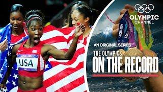 USA breaks 4x100M Women