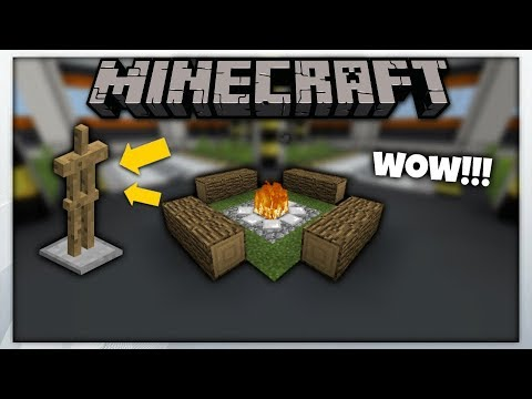 MCPE 1.2 || Camp Fire Using Armor Stand || Minecraft Pe