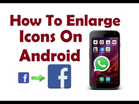 How To Enlarge Icons On Android| Trick to make big icons | New Tricks For Android- Big App Icons