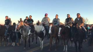 The Horse Nation sings at Standing Rock