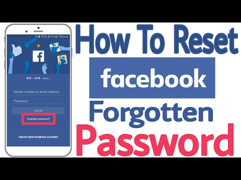 How to reset facebook forgotten password