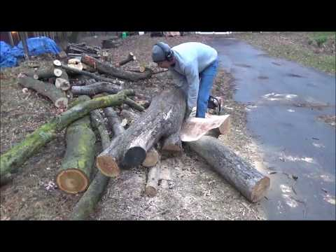 Mini Chainsaw Mill Attachment. Milling Apple.