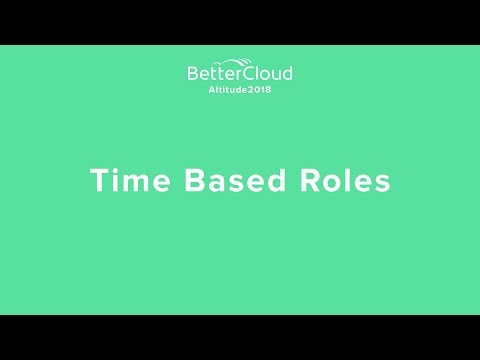Altitude 2018: Time Based Roles