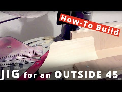 How to Cut Crown Molding with a Jig for an ouside 45