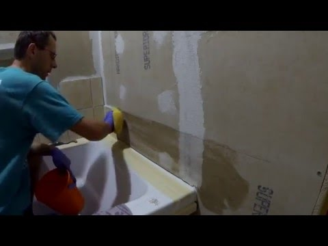How to install tiles on a HardieBacker wall with Versabond
