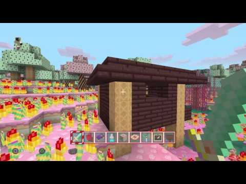 A witches hut minecraft candyland texture pack