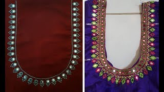 Mirror Work Blouse Designs Latest Collection The Most Popular High