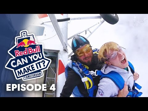 RED BULL CAN YOU MAKE IT? Jumping out of an airplane on Friday the 13th.