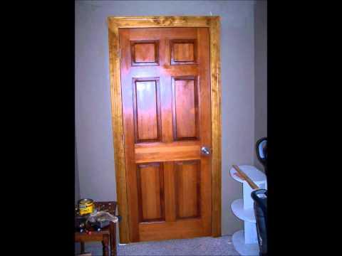 Stained Solid Pine Door