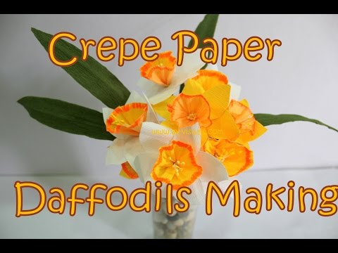 DIY: How to make Crepe Paper Daffodils/Narcissus Flower