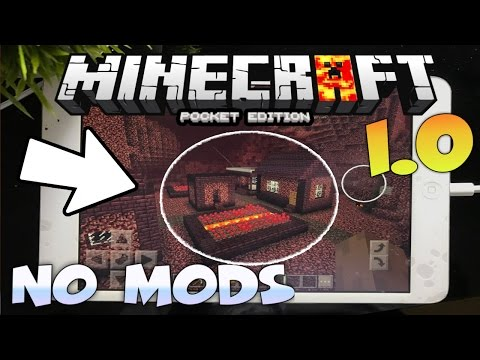 MINECRAFT PE 1.4 / 1.4.2 NETHER VILLAGE - HOW TO GO TO THE NEATHER VILLAGE IN MCPE 1.0 NO MODS