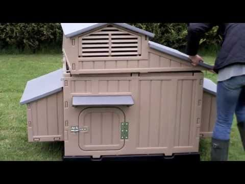 Easy Clean Large Chicken Coop - No Red Mite - Assembly Video
