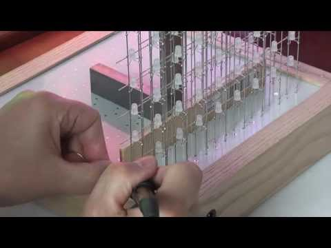 Construction of an 8x8x8 RGB LED Cube. Part 6: Cube Final Assembly
