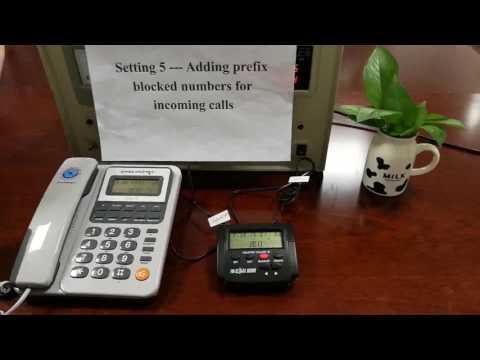How to block calls with  E-CALL call blocker —block robo calls