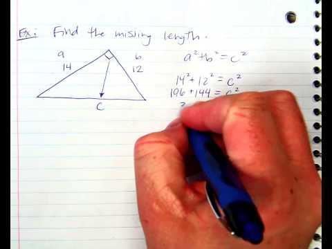 Pythagorean Theorem Solving for C