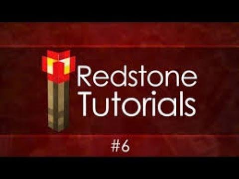 Minecraft Redstone Tutorials #6 Redstone Torch Key With Door