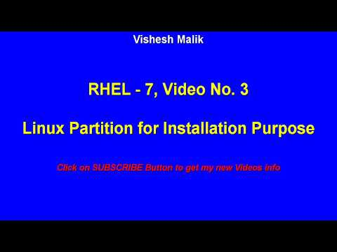 Linux Partition for Installation Purpose, Video No - 3