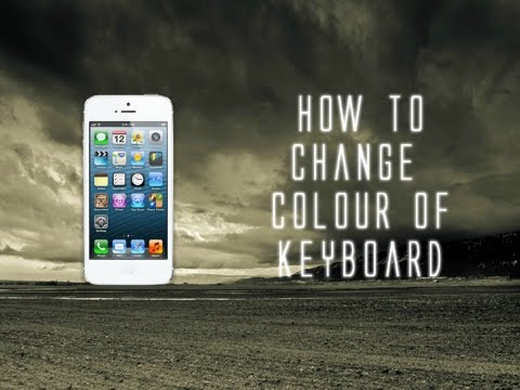 How to change colour of keyboard! - iPhone, iPad, iPad (IOS7,8)